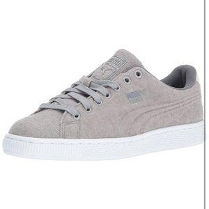Puma basket classic embossed wool sneakers